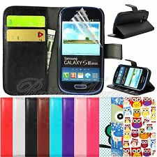 for Samsung Galaxy S3 Mini i8190 Book Flip Leather Wallet Case Card Pouch Cover