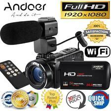 Andoer WiFi Ultra HD 1080P 24MP Digital Video Camera DV Camcorder & Microphone