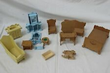 Balsa wood Dolls House Furniture Bundle Mixed Job Lot