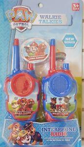 NEW KIDS PAW PATROL WALKIE TALKIE PLAY SET TWO WAY RADIO CONTROL INTERPHONE TOY