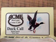 MANIGLIA di gomma Duck Call. VERDE ACQUA, Mallard & Widgeon chiamata da ACME autentico ACME