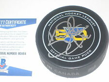 KEVIN SHATTENKIRK Signed BLUES 50th ANNIV Official GAME Puck w/ Beckett COA