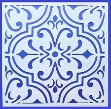 Flexible Stencil *MOROCCAN TILE # 2* Pattern Embossing Card Making 14cm x 14cm