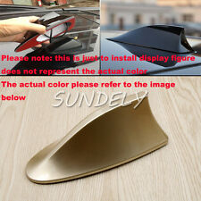 Car Roof Radio FM/AM Signal Aerial Shark Fin Antenna Universal For VW Polo Gold