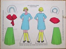 Paper Doll w/Baby Bottle Nipple Advertising - 1930s French - Blue