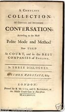 SWIFT - Collection of Genteel and Ingenious Conversation - 1738 - FIRST EDITION!
