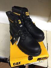 CAT CATERPILLAR SECOND SHIFT ST BLACK BOOTS Size 9
