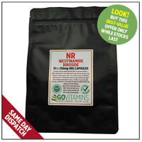 BEST SELLING NR 250mg PURE Nicotinamide Riboside VEGGIE capsules NAD+ GOVITAMINS