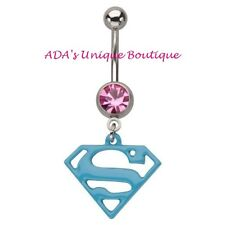 14G Belly Piercings Superwoman Navel Ring Supergirl Body Jewelry Belly Button
