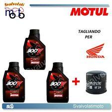 TAGLIANDO FILTRO OLIO + 3LT MOTUL 300V 10W40 HONDA CBR 600 RR 2003