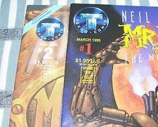 Tekno Comix NEIL GAIMAN'S MR. HERO #1 & #2 Newmatic Man from 1995 in VF- con.