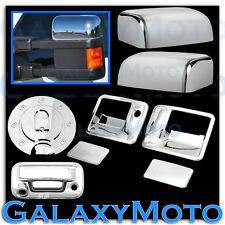 08-10 Super Duty Chrome HALF Mirror+2 Door Handle no K+Tailgate Camera+Gas Cover