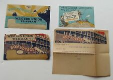 Western Union Bon Voyage  Letter  w/ Envelope And Price Card S.S Statendam 1936+