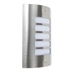 Stainless Steel Outdoor Security Bulkhead Wall Light Patio Garden LED Lighting
