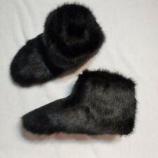 UGG Australia sz 7 Amary faux fur slipper booties black 1103861