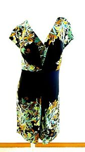 DRESSBARN WOMEN'S MULTI-COLOR STRETCH POLYESTER DRESS SIZE 12