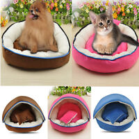 Warm Soft Pet Dog Cat Bed House Kennel Doggy Cushion Basket Mat Pink Blue Brown