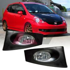 For 2006-2007 Honda Fit Fog Lights (Wiring, Switch, and Bezels) Kit Clear Lens