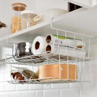 Under Shelf Desk Table Storage Basket Cabinet Wardrobe Hanging Holder  * *