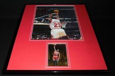 Michael Jordan Facsimile Signed Framed 16x20 Photo Display Chicago Bulls