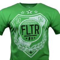 FLTR Men's T-shirt - Shield of Honor - Born in the City of LA - Green Size S & M