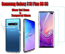 Slim Silicone Clear Case Cover Gel Cover  For Samsung Galaxy S10 Plus S9 S8