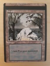 MTG Swamp * MISCUT / MISPRINT *   Ice Age   NM with photos!