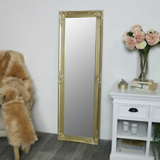 Ornate Gold wall mirror full length vintage French living room hallway decor