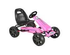 Kids Pink Pedal Large EVA Wheel Sports Go Kart Ride On Childrens Cart