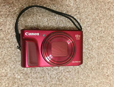 Canon Powershot Camera SX720 HS Red Virtually Unused 40x Optical Zoom