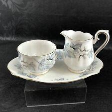 Royal Albert Creamer Sugar Tray Silver Maple Bone China England Cream Pitcher