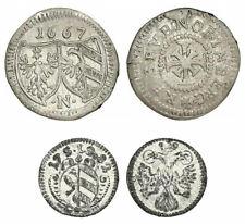 NUERNBERG - Kreuzer 1667 + Pfennig 1782 Silber [D-38]