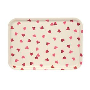 Pink Hearts 22 x 14.5cms Small Melamine Rectangular Tray Emma Bridgewater