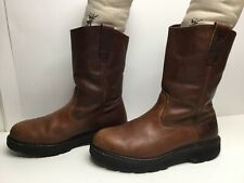 VTG MENS SURVIVORS WORK BROWN BOOTS SIZE 7.5
