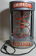 VHTF SMIRNOFF VODKA BLACK LIGHT METAL DISPLAY