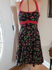 Retro Look PINUP COUTURE DRESS Cherry Design Size Large
