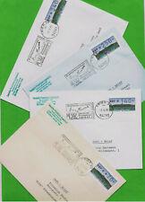 4 seltene ATM-Einzelfrankaturen dünnes DBP 70+160+250+340 INFO-FDC's! Schloß