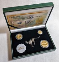 2002 Natura 3 Coin Gold Set - .9999 Fine - Cheetah - 0.85 ozs AGW - OGP & COA
