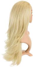 Perruques et toupets longs blond doré clair pour femme