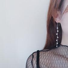 Damen Ohrringe Durchzieher Zirkonia echt Sterling Silber 925 Ohrhänger