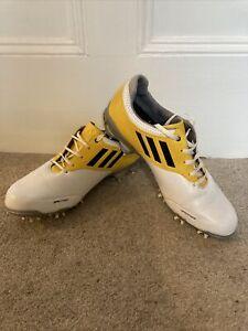 Adidas Adizero Tour Sprintweb Mens Golf Yellow White Leather Shoes Size 9