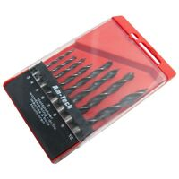8pc WOOD DRILL BIT SET IN CASE 3 4 5 6 7 8 9 10mm CARBON STEEL TIPS HOLE CUTTER