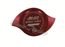 NEW RED JDM CNC Aluminum MUGEN Car Radiator Protection Cap Cover RED