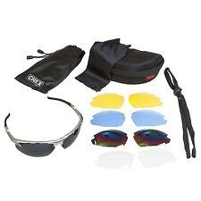 CHEX Ace Cricket Sunglasses Sportsglasses 5 Interchangeable Lenses Silver Frame