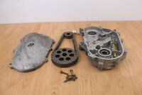 2003 POLARIS RMK 800 VERTICAL ESCAPE Chain Case With Cover & Sprockets 19/41