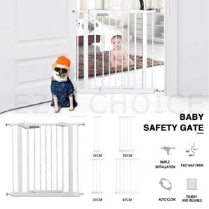 Adjustable Baby Security Gate Door 76CM Pet Child Safety Stair Barrier Extension