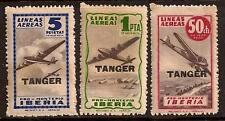 SPAIN IBERIA 1945 PLANE OVERPRINT TANGER MNH