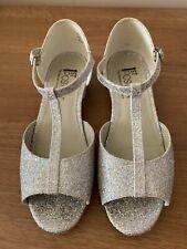 Latin/Ballroom Silver/White Girls Dance Shoe Size 3