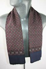 Vintage wool style Scarf blue mod dandy retro mens womens cravat *497