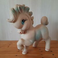 HORSE Happy Pony VINTAGE Squeaky RUBBER DOLL TOY BISERKA ART 282 Yugoslavia